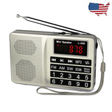 Am/fm/sw Portable Radio Bajo Sonido Mp3 Música Reproductor