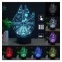 Lampara 3d Led Alcon Milenario - Star Wars - Cambia 7 Colore
