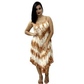 0469b56995 Vestido De Cassa Bordada Femininas Vestidos - Vestidos Marrom claro ...