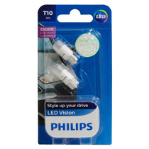 Lampada Philips Pingo Led Vision 5500k W5w T10 Super Branca