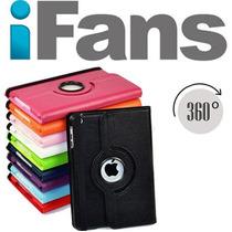 Funda Ipad 2 3 4 Giratoria 360 + Film Lapiz Y Tapones Ifans