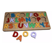 Brinquedo Tabuleiro Alfabeto Educativo Pedagógico Mdf