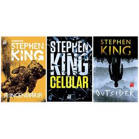Livro A Incendiária + Celular + Outsider - Stephen King