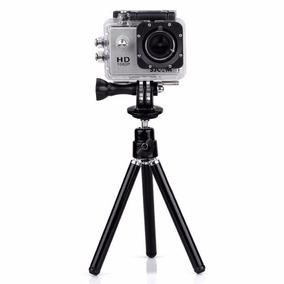 Mini Tripe Com Suporte Para Camera Gopro Yi Sjcam Sj4000 Etc