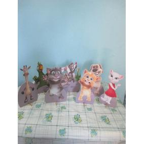 Kit 10 Totens Tom O Gato Falante Decoração De Mesa Festas