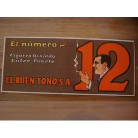Antiguo Cartel Anuncio De Cigarros Numero 12 Años 30