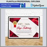 Plantilla Diploma / Reconocimiento Moderno - Psd - 300ppp