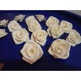 Mini Rosa Em Biscuitfeita À Mão,porcelana Fria,50 Peças 4cm