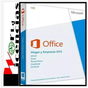 Office Hogar Y Empresas 2013 Licencia Original Oem 1 Pc