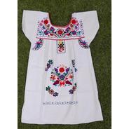 Vestido Mexicano Infantil T 6 Bordado A Mão Original - Varal