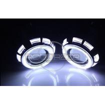 Farol Projetor Bi Xenon Retrofit Led Angel Eyes H1 H3 H4 H7