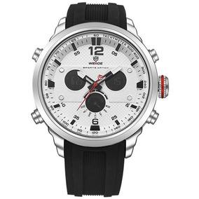 Relógio Masculino Weide Wh-6303 Anadigi Branco/preto Com Nf