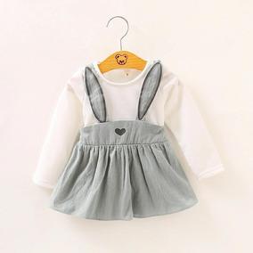 Vestido Para Niña Niñas Bebé Motivo De Conejo Color Rosa