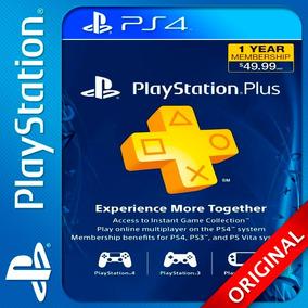 Psn Plus 12 Meses Playstation Ps4 Elegi Reputacion Oferton!!