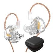 Kz Edx Audifonos Con Micro + Estuche In Ear Transparente
