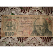 Billete Antiguo De 10 Pesos De 1977 (hidalgo)