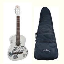 Violão Acústico Mickey Mouse Nylon + Bag Acochoado Loja