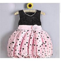 Vestido Festa Rosa Com Lurex No Busto - Infantil