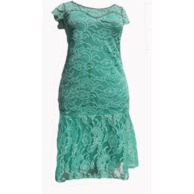 Vestido De Renda Poliamida - Moda Evangélica Plus Size