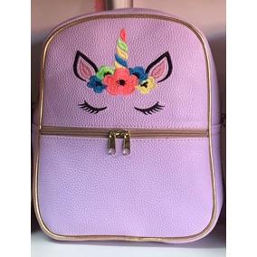Mochila Moda Diseño De Unicornio Grande - Varios Colores