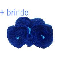 Kit C/ 3 Tapete Peludo Banheiro Infantil + Brinco Brinde