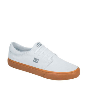 Tenis Choclo Agujeta dc Shoes Color Blanco Textil Im442