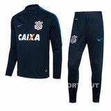 Agasalho Corinthians Original Masculino Nike Conjunto 2017