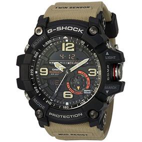 Casio Mens G Shock Quartz Resin Casual Watch, Color:beige (m