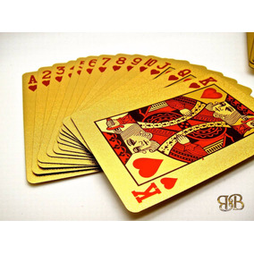 Baralho Folheado Ouro 24k Poker Canastra Buraco Blackjack 2
