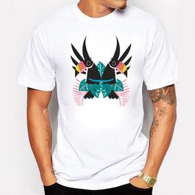 Remera De La Moda Pintada Doble Diseño Tucán Camiseta Tapas