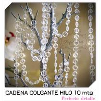 Cadena De Acrilicos 10 Metros (hilos) Para Hacer Cortina