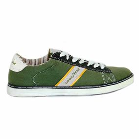 Zapatillas Hombre Tela Verdes Muy Comodas Good Year