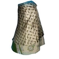 Pollera Mil Formas Doble Falda Seda Reversible Hindu