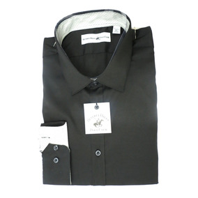 Camisa Beverly Hills Polo Club Social Preta + Frete Grátis
