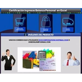 Certificación Ingresos Balance Personal En Excel
