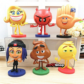 Kit 6 Miniaturas Emoji Movie Filme Emoticon Festa Decorar