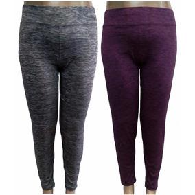 Kit 5 Calça Legging Feminina Rajada Plus Size Moda Grande