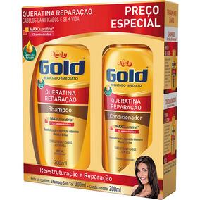Kit Especial Shampoo + Condicionador Niely Gold Queratina Re