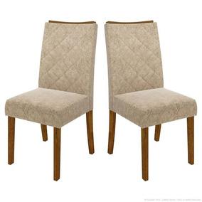 Jogo Com 2 Cadeiras 100% Mdf Golden Bege Amassado Dj Móveis