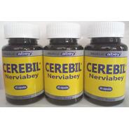 Nervios Estrés, Cerebil Abey, Oferton 3 Frascos 60 Cápsulas.