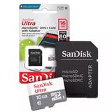 Cartão Micro Sd 16gb Ultra Classe 10 80mbs Original Garantia