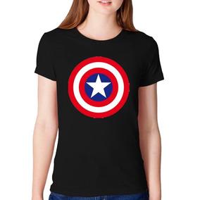 Remera Dama- Superheroes Capitan America M9