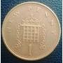 Moneda De Un New Penny De Gran Bretaña 1981