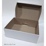25 Cajas Zapatos Con Taco, Botines 31x23x11