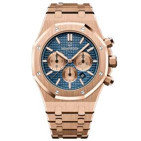 Reloj Royal One Azul Cronógrafo| Rose Gold10k De$ 8,000 -30%