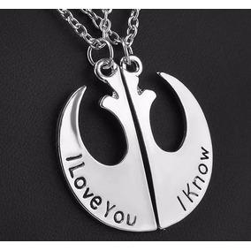 Star Wars Par De Collar De Insignias De Amor Envío Gratis