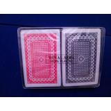 Estuche C/ 2 Barajas Poker 100% Plástico,tamaño Bridge