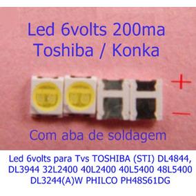 Led Toshiba Sti Philco 6v 1,8w 6v Dl4844 3944 32l400 Ph48s61