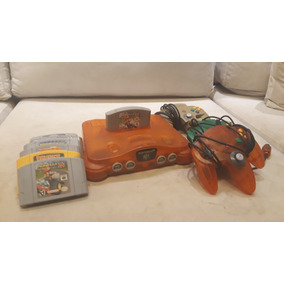 Nintendo 64 Tangerina + 3 Controles Originais + Games