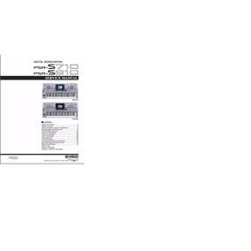 Manual De Serviço Teclado Yamaha Psr S710 Psr S910